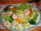 Shrimp, Chicken And Vegetables