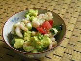Shrimp & Cucumber Tomato Salad
