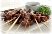 Skewered Beef With Sesame Marinade
