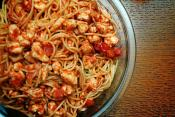 Spaghetti With Quick Garlic Tomato Sauce