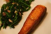 Salmon Steaks With Spinach