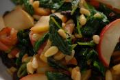 Loin Of Lamb With Spinach And Pine Nuts