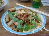 Spring Salad Bowl With Garlic Dressing