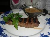 Steak With Mushroom Brown Sauce