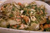 Stir Fried Crab Ginger And Green Onions