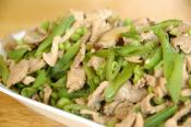 Stir Fried Pork Kidney And Snow Peas