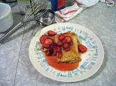 Strawberry Cheese Blintzes