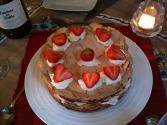Strawberry Meringue Pudding