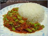 String Beans With Rice