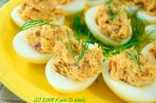 Chives Stuffed Eggs
