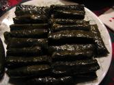 Meat &amp; Cheese Stuffed Grape Leaves