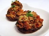 Sausage & Cheese Stuffed Portobello Mushrooms