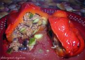 Red Peppers Stuffed With Crab