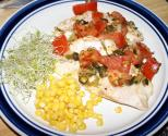 Artichoke Stuffed Red Snapper