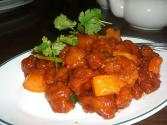 Microwave Cooked Sweet And Sour Chicken