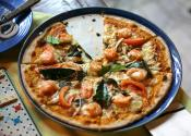 Thai Pizza With Shrimp