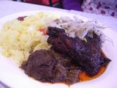 Braised Sirloin Tips Over Rice