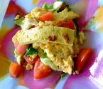 Zucchini And Tomato Egg Scramble