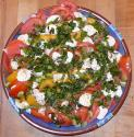 Tomato And Mozzarella Salad With Red Wine Vinegar