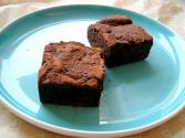 Truffle Topped Amaretto Brownies