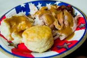 Biscuit-topped Turkey Pie