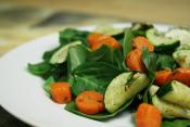 Vegetable Spinach Salad
