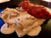 Lamb Cannelloni With Walnut Parmesan Sauce