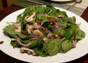 Wilted Spinach Salad With Cashews