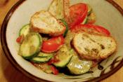 Savory Peppers With Zucchinis