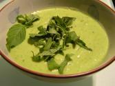 Zucchini Soup With Croutons