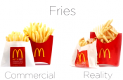Look At How Mcdonald's Commercials Fool You…