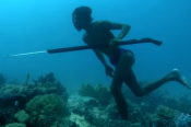 Watch People Walk And Hunt On The Ocean Floor!