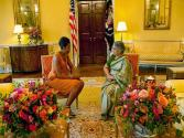 Michelle Obama Hosts Tea For Indian Pm's Wife