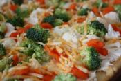 Cream Cheese And Vegetables Pizza