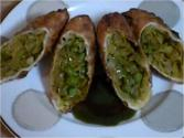 Indian Eggrolls With Spicy Cabbage  Filling