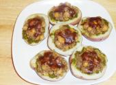 Indian Potato Skins With Chickpeas Topping