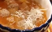 Italian-style French Onion Soup With Tiny Meatballs