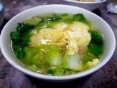 Japanese Spinach And Egg Soup