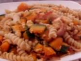 Kabocha (japanese Pumpkin) With Bacon And Rotini Pasta - Easy And Tasty