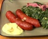 Curly Kale With Smoked Sausages