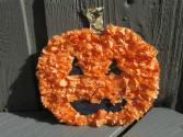 Tissue Paper Pumpkin Halloween Craft For Kids