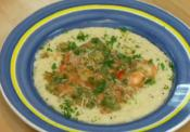 Shrimp Etouffee And Parmesan Cheese Grits