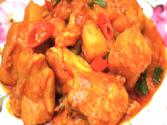 Korean Food: Spicy Chicken With Vegetables (닭볶음탕)