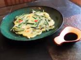 Korean Food: Garlic Chive Pancakes (부추전)