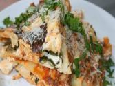 Lasagna With Ground Beef, Poblano Peppers &amp; Ricotta Cheese