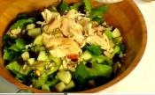 Leftover Turkey And Apple Romaine Salad