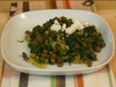 Spinach With Lentils And Feta