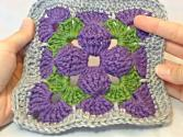 Left Hand Motif Of The Month May 2013: 3d Granny Square Part 1