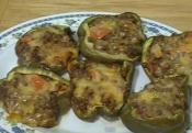 Baked Low Carb Beef Stuffed Peppers