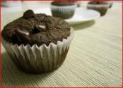 Low Fat Zucchini Double Chocolate Chip Muffin
